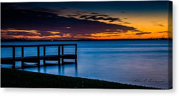 Indian Shores Dusk Canvas Print by Allen Biedrzycki