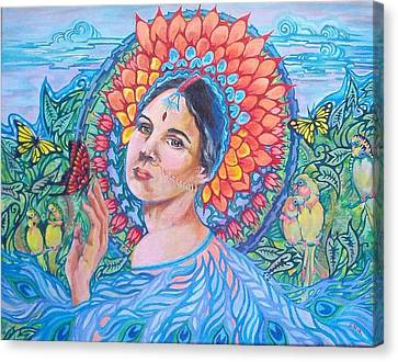 Canvas Print featuring the painting Indian Spring by Suzanne Silvir