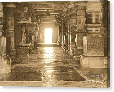 Canvas Print featuring the photograph Indian Temple by Mini Arora