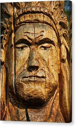 Indian Totem Pole Canvas Print by Dan Sproul