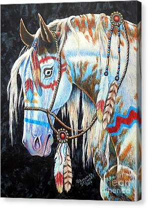 Indian War Pony #2 Canvas Print by Amanda Hukill