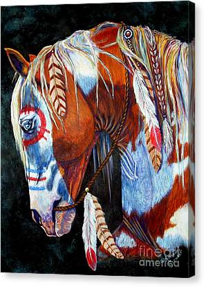 Ropes Canvas Print - Indian War Pony by Amanda Hukill