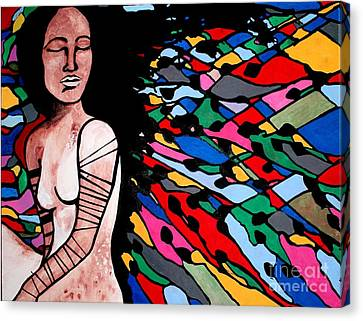 Indian Wave Canvas Print by Amy Sorrell