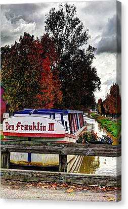 Indiana Canal Town Canvas Print by Tri State Art