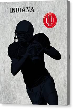 Indiana Football Canvas Print by David Dehner