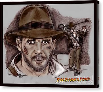 Indiana Jones Canvas Print by Chris  DelVecchio
