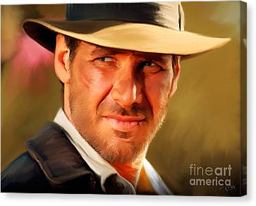 Shower Canvas Print - Indiana Jones by Paul Tagliamonte