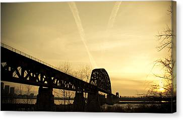 Indiana Ky Bridge Canvas Print by Off The Beaten Path Photography - Andrew Alexander
