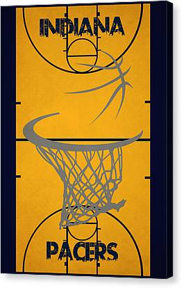 Indiana Pacers Court Canvas Print by Joe Hamilton