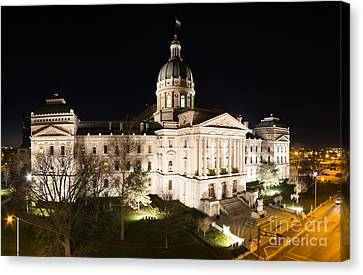 Indiana State Capitol Building Canvas Print by Twenty Two North Photography