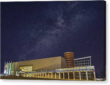 Indiana State Museum Night Star Play Canvas Print by David Haskett