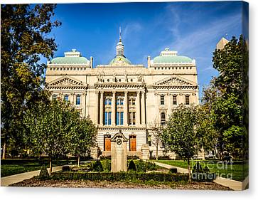 Indiana Statehouse State Capital Building Picture Canvas Print by Paul Velgos