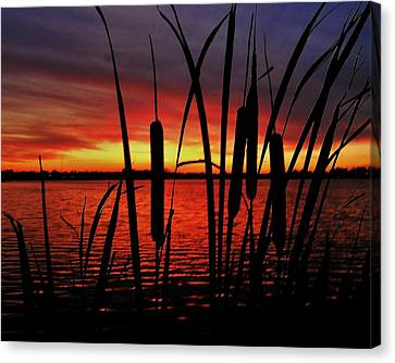 Indiana Sunset Canvas Print by Benjamin Yeager