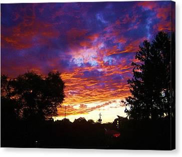 Indiana Sunset Canvas Print