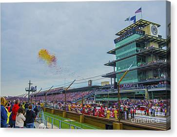 Indianapolis 500 May 2013 Balloons Race Start Canvas Print by David Haskett
