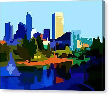Indianapolis Cityscape Canvas Print
