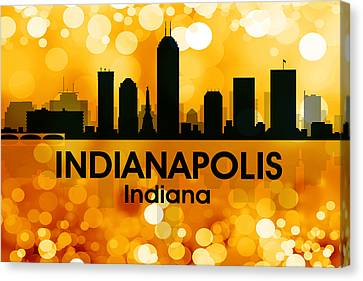 Indianapolis In 3 Canvas Print by Angelina Vick