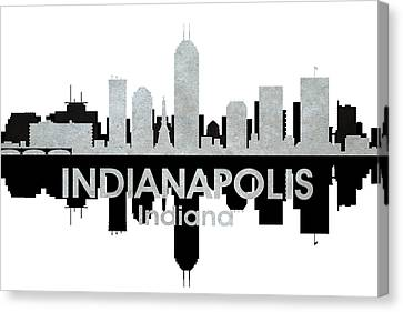 Indianapolis In 4 Canvas Print by Angelina Vick