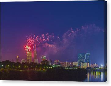 Indianapolis Indiana 4th July Digital Oil  Canvas Print by David Haskett