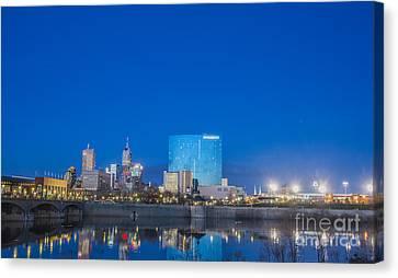 Indianapolis Indiana Blue Canvas Print