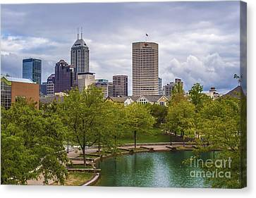 Indianapolis Indiana Skyline 1000 Canvas Print