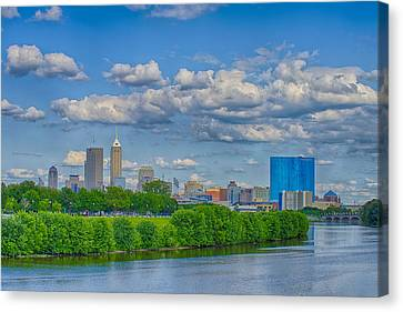 Indianapolis Indiana Skyline Hdr 9906 Canvas Print by David Haskett