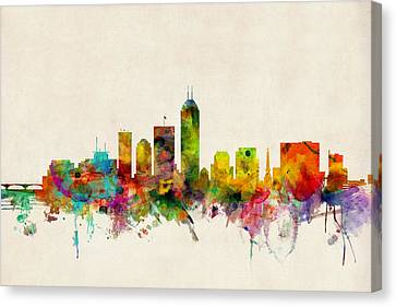 Indianapolis Indiana Skyline Canvas Print by Michael Tompsett