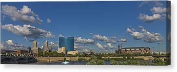Indianapolis Indiana Skyline Pano 10 Canvas Print by David Haskett