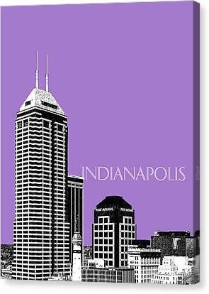Indianapolis Indiana Skyline - Violet Canvas Print by DB Artist
