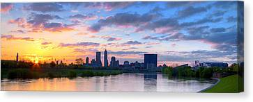 Indianapolis Indiana Sunrise Panoramic Hdr Canvas Print
