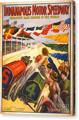 Indianapolis Motor Speedway 1909 Canvas Print by Padre Art