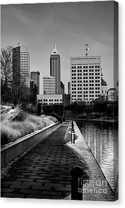 Indianapolis Skyline 21 Canvas Print by David Haskett