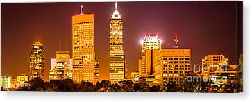 Indianapolis Skyline Panorama Picture  Canvas Print