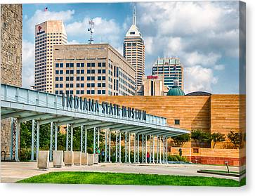 Indianapolis State Museum Canvas Print by Gene Sherrill
