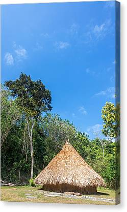 Bamboo House Canvas Print - Indigenous Hut by Jess Kraft