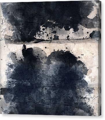 Indigo Clouds 5 Canvas Print by Carol Leigh