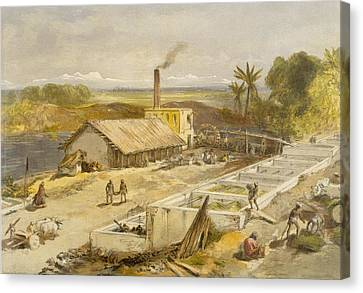 Indigo Factory - Bengal, From India Canvas Print by William 'Crimea' Simpson
