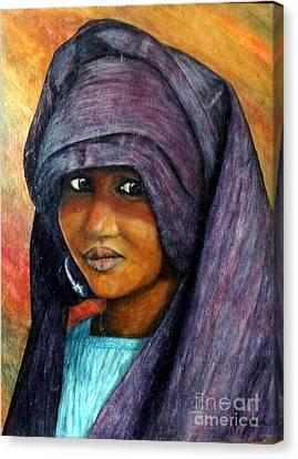 Indigo Girl Canvas Print by Joey Nash