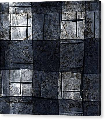 Pattern Canvas Print - Indigo Squares 4 Of 5 by Carol Leigh