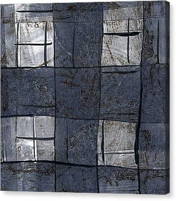 Indigo Squares 5 Of 5 Canvas Print by Carol Leigh