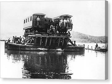 Indochina Canvas Print - Indochina Train Ferry by Underwood Archives