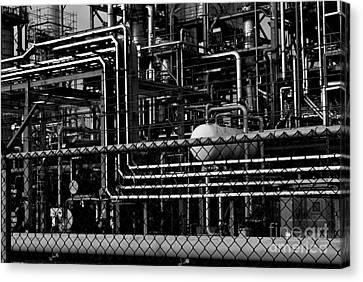 Canvas Print featuring the photograph Industrial Chaos by Maja Sokolowska