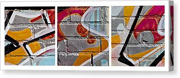 Industrial Graffiti Canvas Print by Art Block Collections