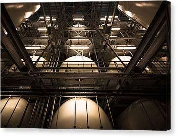 Industrial Interior Canvas Print by Peter Maroti