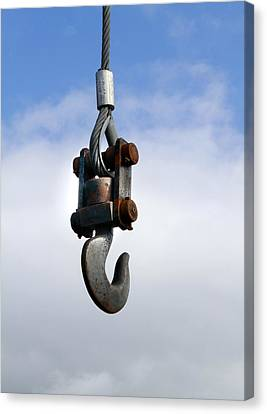 Industrial Lifting Hook Canvas Print by Science Photo Library