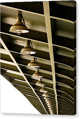 Industrial Lights Canvas Print by Randi Kuhne