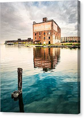 Industrial - Old Buildings - Build To Suit Canvas Print by Gary Heller