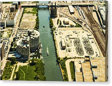 Industrial Riverside Canvas Print by Andrew Paranavitana