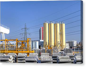 Industrial Scene With Concrete Canvas Print by Fizzy Image