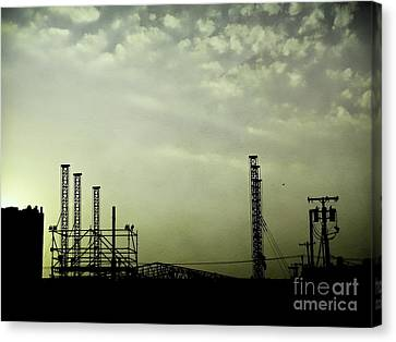 Industrial Sky Canvas Print by Colleen Kammerer